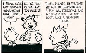 calvin on writing a thesis      ScienceBlogs