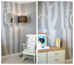 diy trend birch tree wall murals at home with natalie coat number two was easy behr premium paint and primer in one cut down on project time and the coverage was fantastic i used under a litre of paint