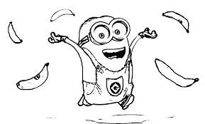 minions coloring pages banana coloring