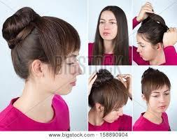 step by step twist hairstyles hair tutorial step by step simple image photo bigstock
