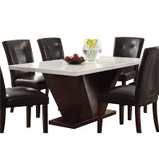 black marble dining table set dining room marble effect dining table and chairs faux marble top