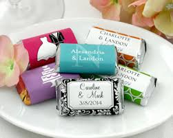 personalized wedding favors personalized hershey s miniatures many designs available