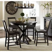 Counter Height Dining Room Table Amazon Com Black Round Counter Complete Table Distressed Black