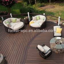 wpc garden composite wood paulownia wood flooring aqua lock