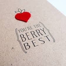 best valentines cards you re the berry best felt strawberry valentines card by hello