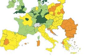 Map Of Italy And Spain by Where Europe Is Most And Least Innovative In 6 Maps The