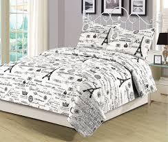 paris bedding blog black and white eiffel tower bedding