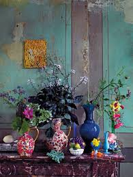 the kitchen beautiful vintage vases and turquoise
