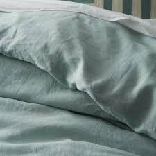 belgian flax linen quilt cover pillowcases pale harbour west