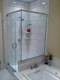 glass panel shower door bathtub spray panel 2 wall mount hinges swing the glass shower