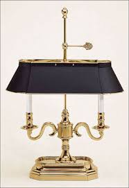 solid brass antique brass desk lamp with protective lacquer