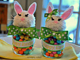 easter bunny candy serendipity refined upcycled baby food jar easter bunny