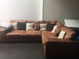 Seater Brown Leather Corner Sofa With Sofa Bed From Darlings - Chelsea leather sofa