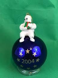 michelin 2004 blue glass ornament collectible