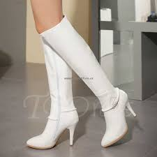 womens white knee high boots nz nz 167 womens boots side zipper pointed toe floss knee