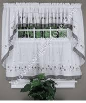 Gray Kitchen Curtains by Kitchen Curtains Tiers U0026 Swags Swags Galore Kitchen Curtains