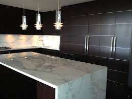 kitchen decorating ideas for countertops decor mini pendant lighting and waterfall countertop with modern