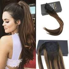 ponytail extension remy clip in ponytail hair extensions human hair brown