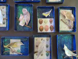 time for art sparkly winter shadow boxes