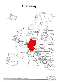 map of germany in europe on map of europe
