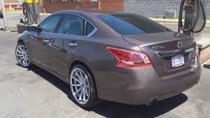 2013 brown nissan altima best looking 2013 nissan altima riding on 20 u0027 rohana rims youtube
