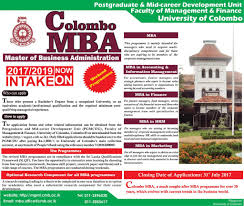 master of business administration weekday programme 2017 2019