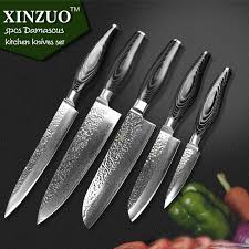 kitchen knives set xinzuo kitchen knife set 73 layer damascus kitchen knife japanese