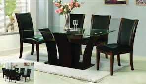 glass wood dining table creditrestore throughout glass wood dining