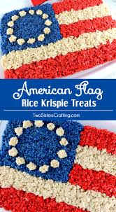 Pan American Flag American Flag Rice Krispie Treat Two Sisters