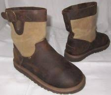 s ugg australia brown leather boots ugg australia leather boots us size 3 unisex shoes ebay