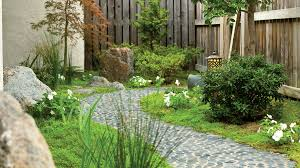 Walkway Ideas For Backyard by Landscaping Ideas With Stone Sunset