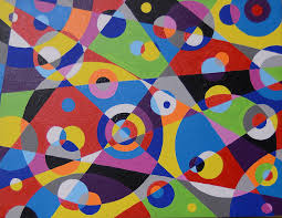 raindrops 1 abstract contemporary painting by artist bruce gray