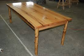 Red Oak Table by Custom Live Edge Dining Table Made From Red Oak With Sapling