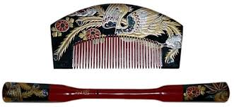 japanese hair ornaments japanese vintage hair accessories wooden comb and pull apart hair