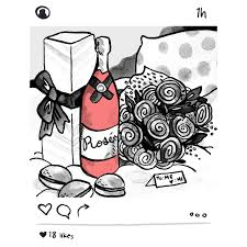 cartoon white wine what u0027s your pink wine personality food u0026 wine