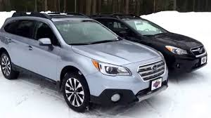 subaru crosstrek hybrid 2017 subaru outback vs subaru crosstrek youtube