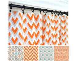 Orange Kitchen Curtains Sale Orange Window Curtains Red Orange Drapes Geometric