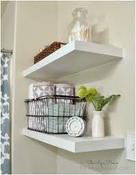 Shelving Ideas For Small Bathrooms by Bathroom Wall Shelves Guest Bathroom Makeover Reveal Finally