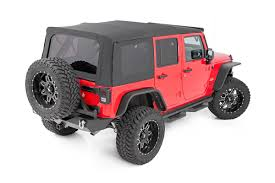 jeep jk suspension rough country replacement soft top for 2007 2009 jeep jk wrangler