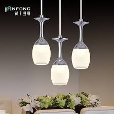 Wine Glass Pendant Light Led Pendant Light Living Room Lights Restaurant L Brief Modern