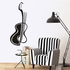 compare prices on guitar wall paper online shopping buy low price high quality diy removable hollow out guitar music wall paper living room art vinyl adhesive wall