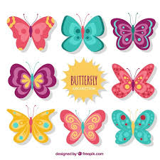 vintage butterflies designs set vector free