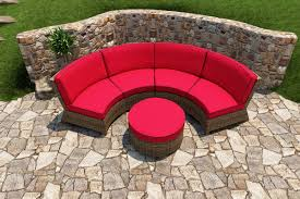 Round Sectional Patio Furniture - bainbridge wicker round ottoman