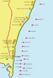 Map Of Yucatan Map Of Mexico Caribbean Coast Major Tourist Attractions Maps