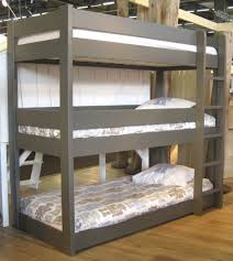 Cool Bunk Bed Designs Rustic Brown Bunk Bed Ideas With Simple Wooden Materials Design