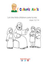 bible key point coloring page jesus loves children online
