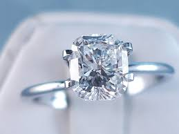 cushion solitaire engagement rings ct cushion cut solitaire engagement ring f si2
