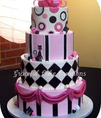 top pink and black edgy cakes cakecentral com