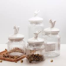 Clear Glass Canisters For Kitchen Compare Prices On Glass Jar For Kitchen Online Shopping Buy Low