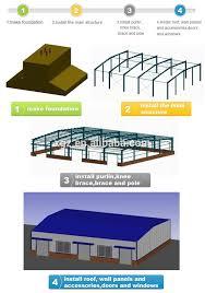 steel structure construction sandwich panel warehouse carport